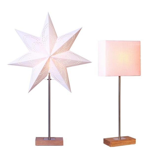 standleuchte lampe stehlampe combi stehleuchte stern und schirm farbe weiss ebay. Black Bedroom Furniture Sets. Home Design Ideas