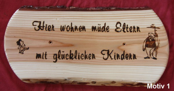 holzschild mit sch nen spr chen lustigen motiven ca 30x 22 cm ebay. Black Bedroom Furniture Sets. Home Design Ideas