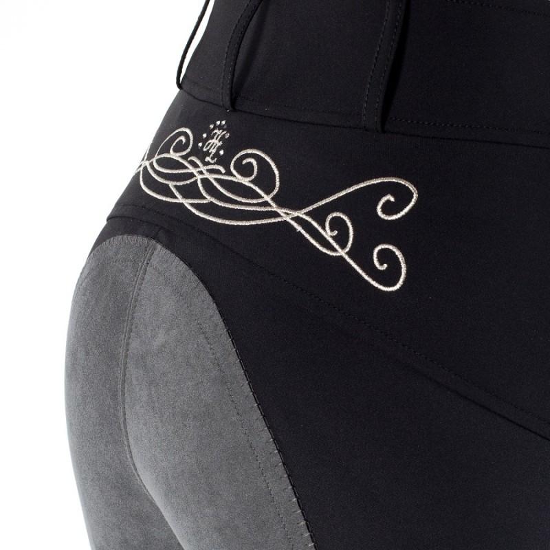 neu sommer reithose vollbesatz schwarz oder weiss mit bestickung ziernaht ebay. Black Bedroom Furniture Sets. Home Design Ideas