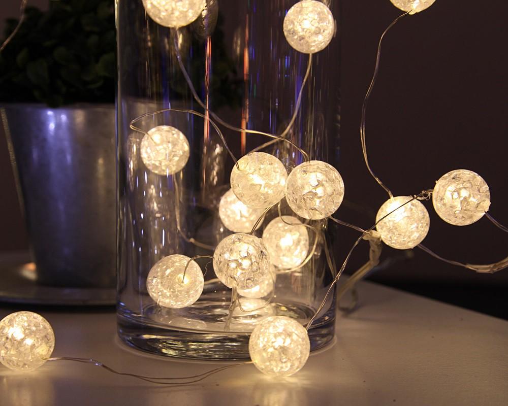 led kugel lichterkette marble balls kugeln. Black Bedroom Furniture Sets. Home Design Ideas