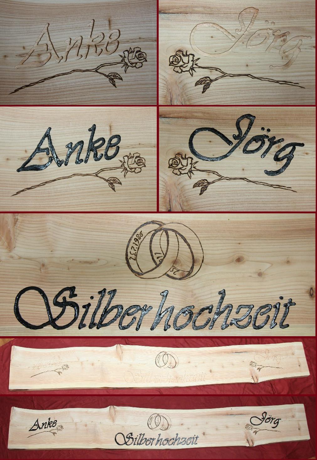 Holzschilder Beispiele