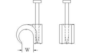 Nagel Kabelclip / Nagelschelle f. 5-7mm Kabel 100Stück