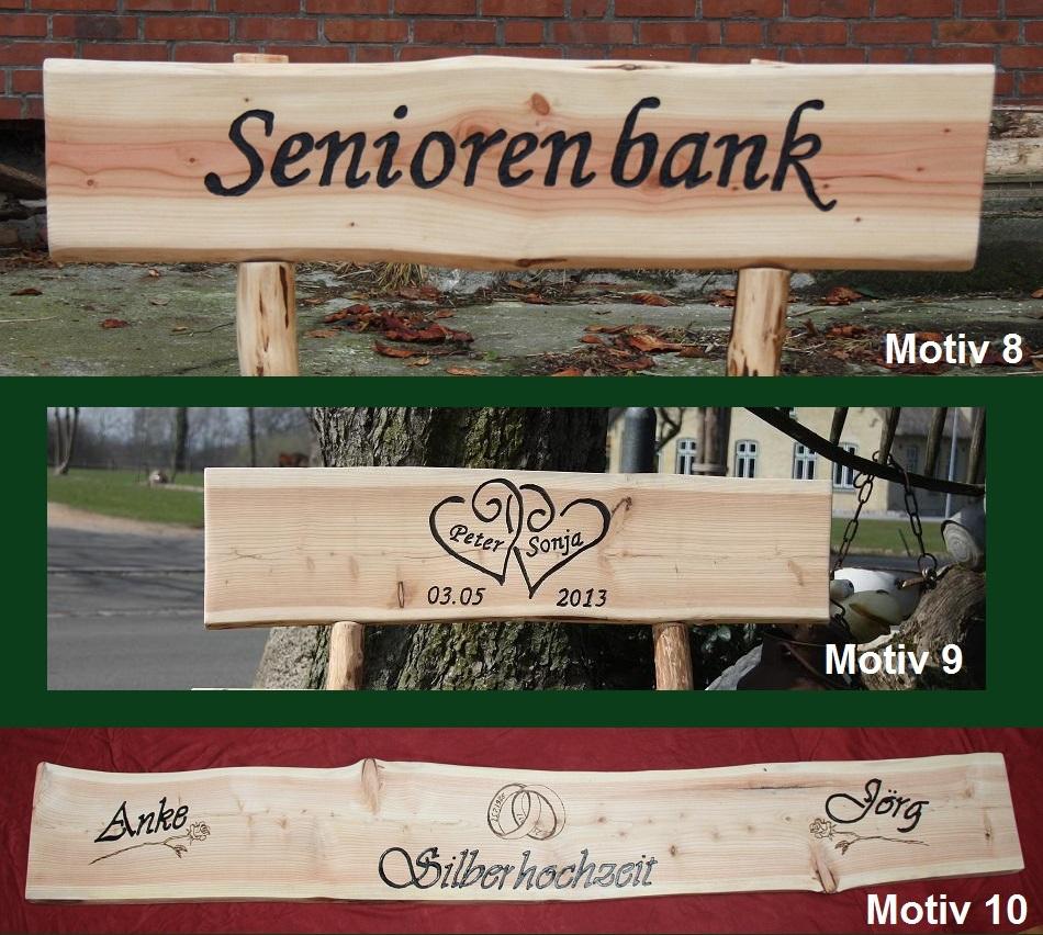 holzbank 1 2 meter breit bank sitzbank rundholzbank gartenm bel mit gravur ebay. Black Bedroom Furniture Sets. Home Design Ideas