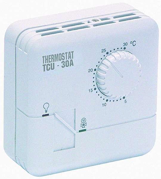 thermostat tcu 30a analog temp 5 c bis 30 c f r heizung. Black Bedroom Furniture Sets. Home Design Ideas