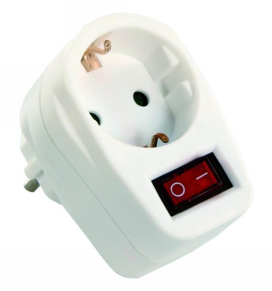 steckdosen schalter 230v 3500w standby strom abschalten mit kontrollleuchte elektr. Black Bedroom Furniture Sets. Home Design Ideas