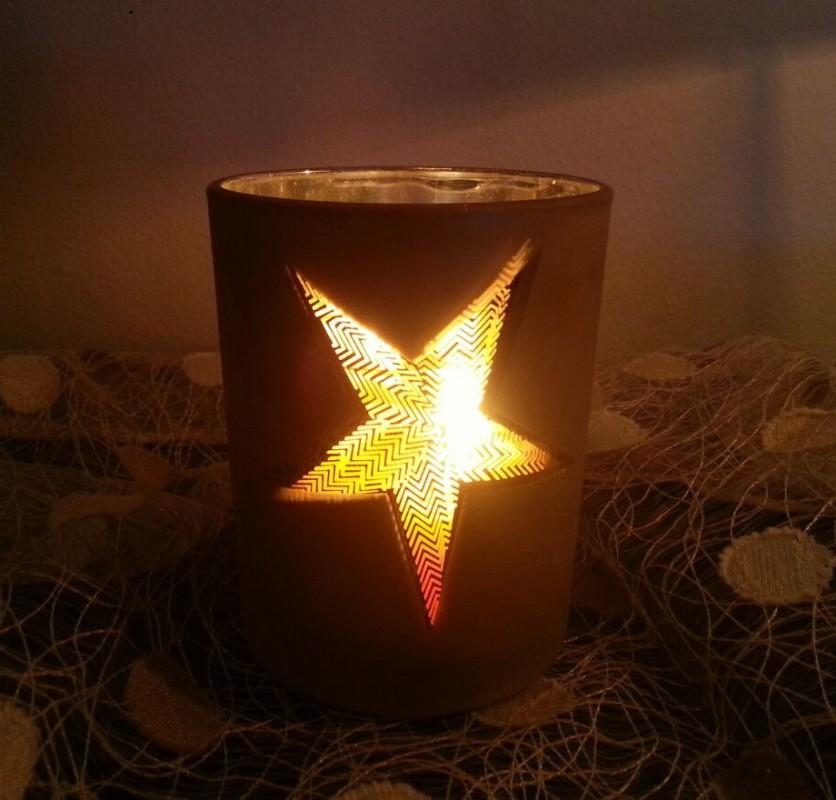 weihnachten teelichthalter glas teelicht windlicht 13cm. Black Bedroom Furniture Sets. Home Design Ideas